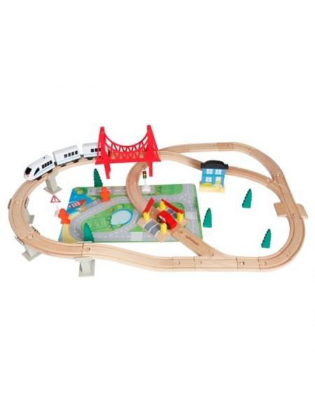 Ξύλινο Τρένο με Γραμμές