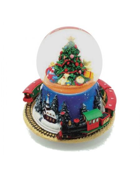 Χιονόμπαλα με Χριστουγεννιάτικο Δέντρο και Τρένο