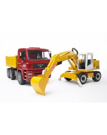 Φορτηγό - MAN & Εκσκαφέας - Liebherr