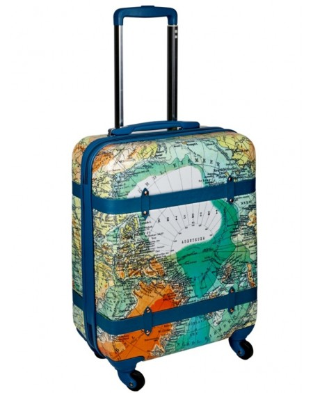 Suitcase Trolley - World Map