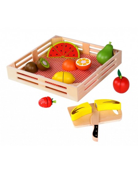Wooden Fruits with Cutting Board