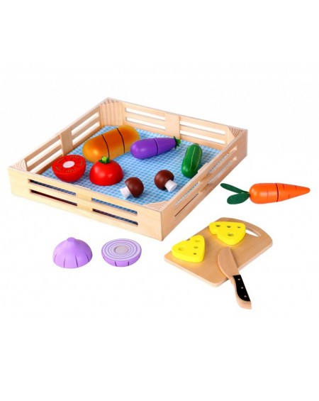 Wooden Vegetables with Cutting Board