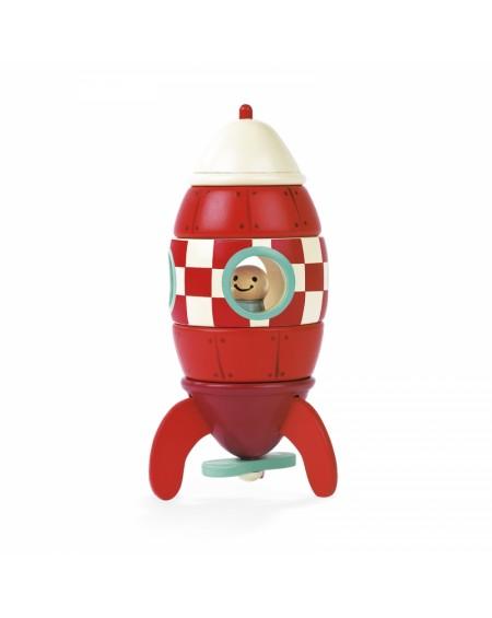 Wooden Magnetic Rocket