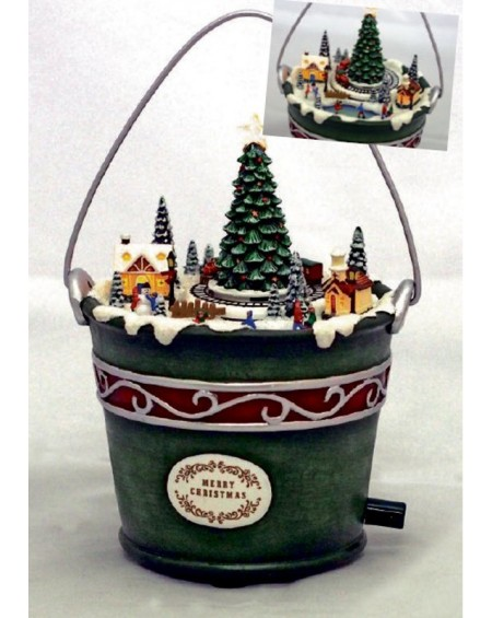 Metal Bucket - Christmas Musical Box