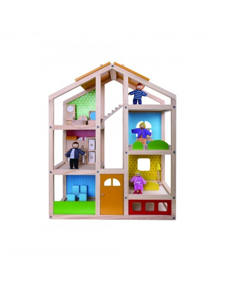 Dollhouse with Dolls and Accessories