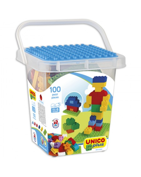 Bucket with 100 Bricks UnicoPlus