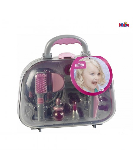 Hair Styling Case with Hairdryer