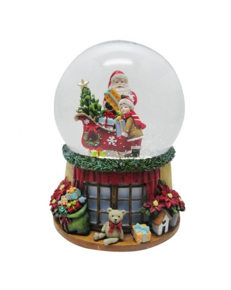 Snow Globe Santa and Boy
