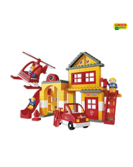 Fire Station Construction Set UnicoPlus