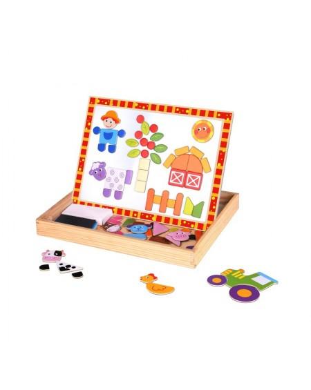 Wooden Magnetic Board - Farm