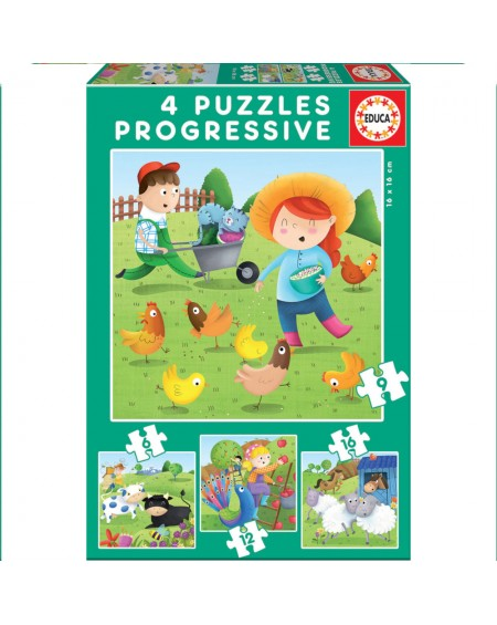 Progressive Puzzles Farm Animals