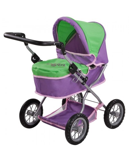 Doll Carriage FIRST PLUM & GREEN
