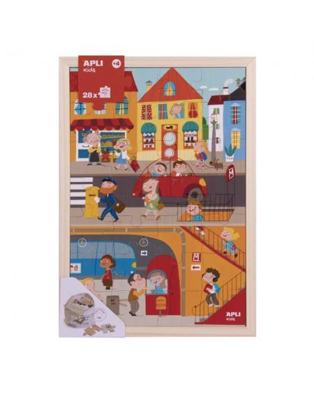 Wooden Puzzle 28 City