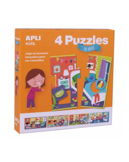 4 Association Puzzles - The House