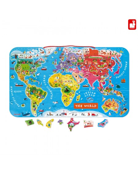 Magnetic World Map Puzzle English Version