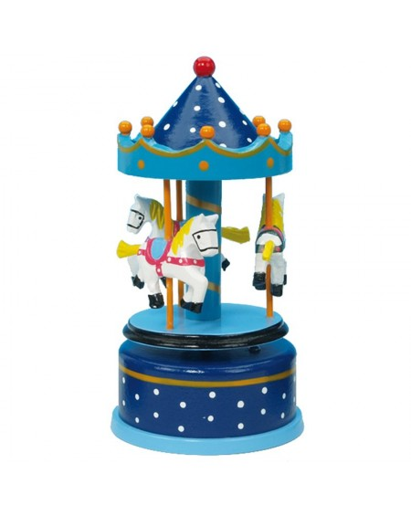 Wooden Carousel - Blue