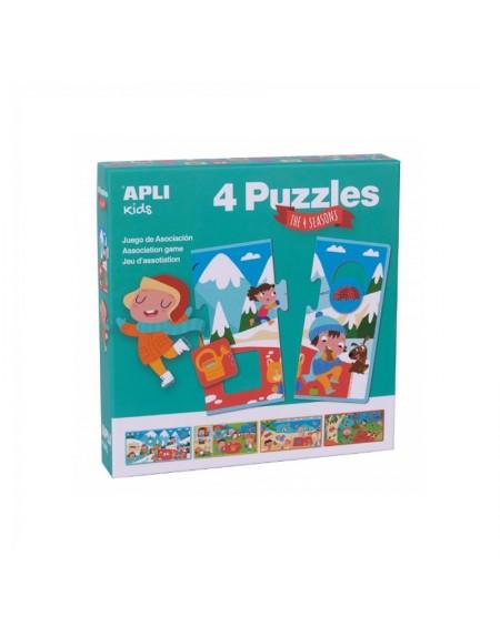 4 Association Puzzles - The Seasons