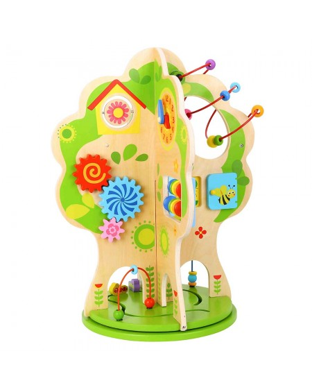 Rotatable Wooden Activity Tree