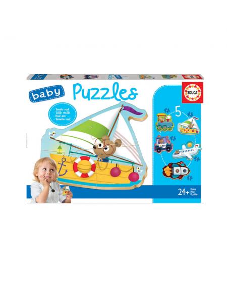 Puzzle 3-4-5pcs - Vehicles