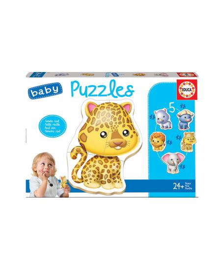 Puzzle 3-4-5pcs - Wild Animals