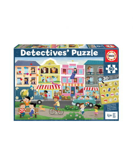 Puzzle 50pc - Detectives' Busy Town