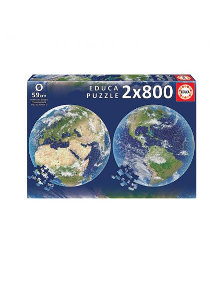 Round Puzzle 2x800pcs - Earth