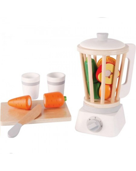 Wooden Blender with accessories