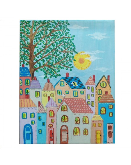 Painting - Houses 2