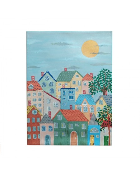 Painting - Houses 3